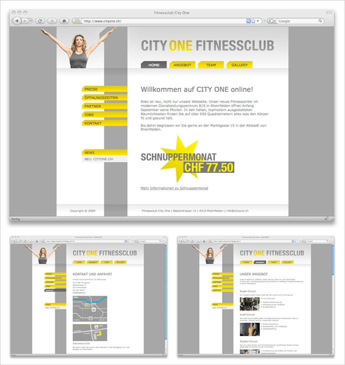 CITY ONE Web Screenshot